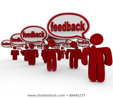 Mehrere Menschen Teilung Meinungen kommunizieren Gedanken Stock foto © dacasdo