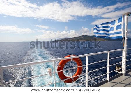 csónak · tenger · turista · lebeg · türkiz · hajó - stock fotó © ivonnewierink