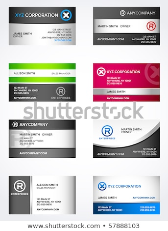 Shiny Business Card stock photo © oliopi