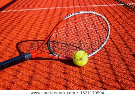 Tenisz árnyék férfi teniszező lövés cipők Stock fotó © Sportlibrary