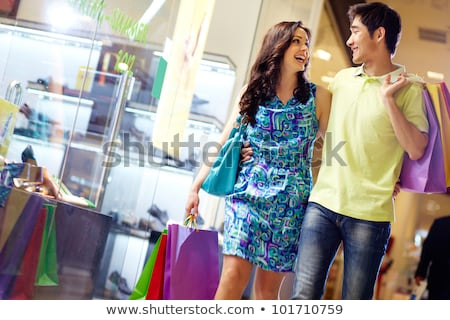 Shopping sourire couple Mall cute homme Photo stock © adam121
