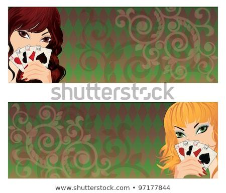 Twee mooie poker banners vector achtergrond Stockfoto © carodi