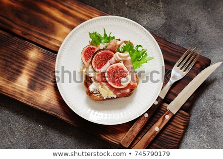 Stok fotoğraf: Füme · domuz · pastırması · sığ · gıda · balık · turuncu