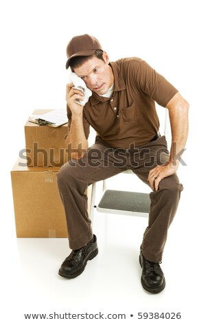 Overwhelmed man on moving day Stock photo © photography33