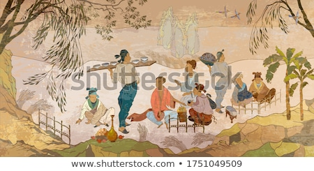 ancient painting Stock photo © Witthaya