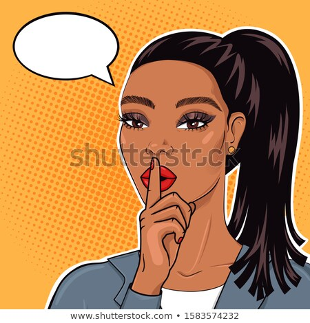 African American woman shushing. Stock photo © photography33