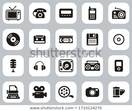 big set of old phones silhouette vector illustration stock photo © leonido