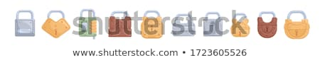 ベクトル セット カラフル 金属 青 レトロな ストックフォト © freesoulproduction