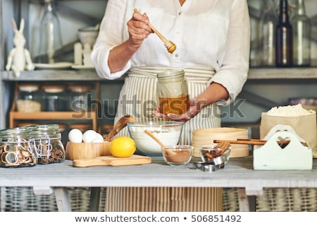 woman hands holding formed christmas dough Stock photo © Rob_Stark