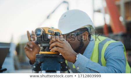 proyecto · propietario · trabajador · de · la · construcción · aceptación · calidad · trabajo - foto stock © photography33