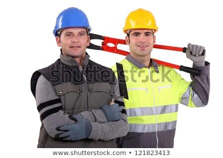 Dois posando juntos negócio edifício homem Foto stock © photography33