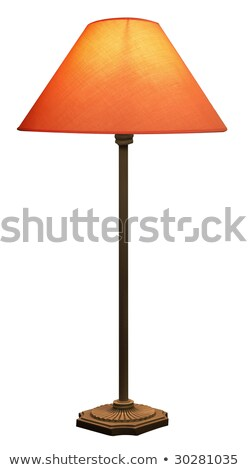 Tall Lamp with Orange shade isolated with clipping path Stock photo © shutswis