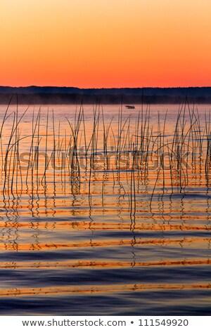 湖 夜明け 日の出 ボート ストックフォト © Kenneth_Keifer