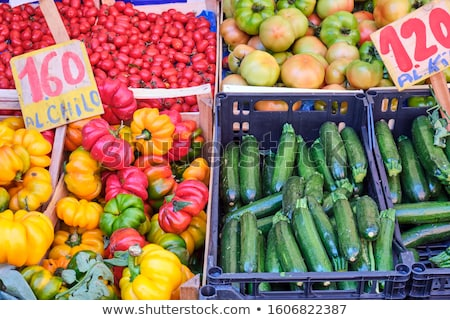 Tomaten paprika erfgoed kerstomaatjes groene ruw Stockfoto © bobkeenan