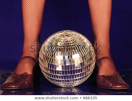 魚網 ストッキング ディスコボール パーティ ダンサー 少女 ストックフォト © dolgachov
