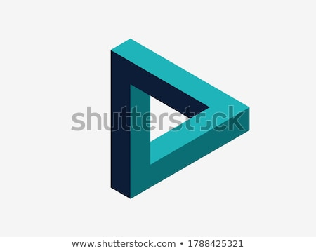 driehoek · abstract · 3D · bouw · ontwerp - stockfoto © samsem