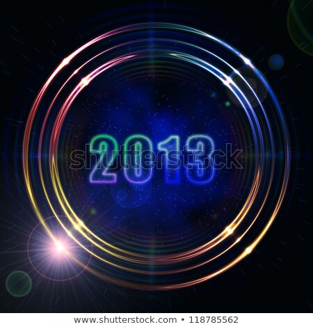 year 2013 in shining golden rings Stock photo © marinini