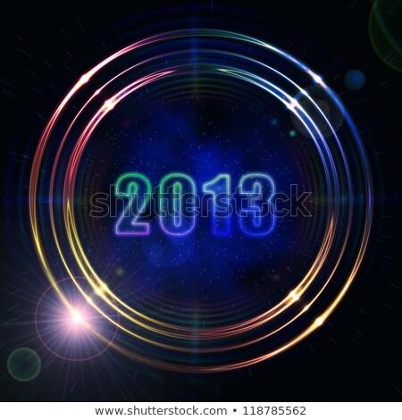 year 2013 in shining golden rings stock photo © marinini