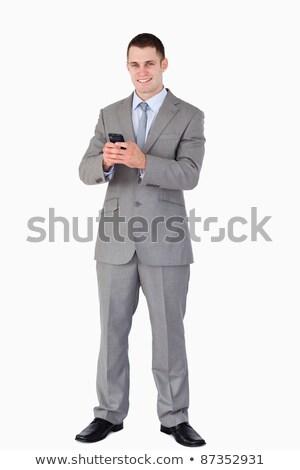 jóvenes · empresario · una · buena · noticia · teléfono · negocios · modelo - foto stock © wavebreak_media