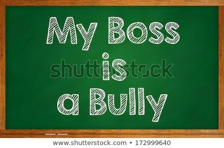 Enyém főnök ideges iroda férfiak öltöny Stock fotó © silent47