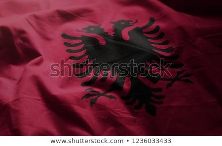 Tejido textura bandera Albania azul arco Foto stock © maxmitzu