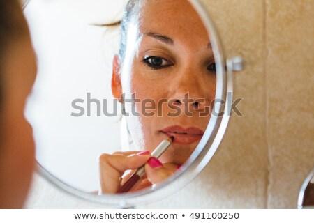roze · lippenstift · lippen · vrouw - stockfoto © juniart
