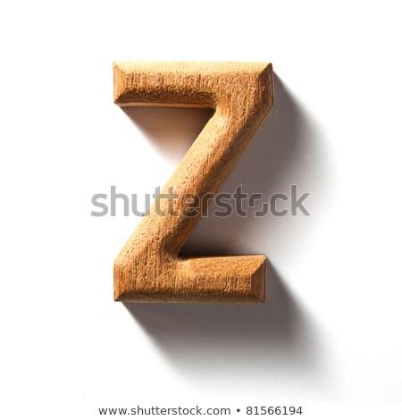 wooden alphabet - letter Z Stock photo © ozaiachin