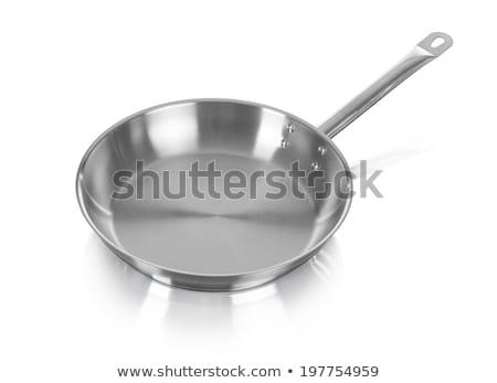 Stock photo: Large metal frying pan