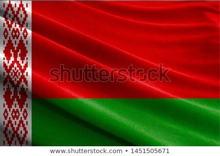kumaş · doku · bayrak · Belarus · mavi · yay - stok fotoğraf © maxmitzu
