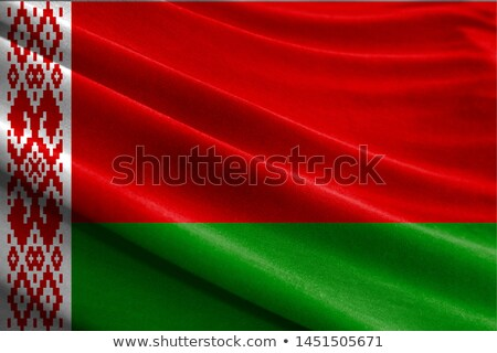 ткань текстуры флаг Беларусь синий лук Сток-фото © maxmitzu