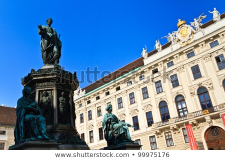 Vienna Imperial Palace (Hofburg) - Amalienburg and inner courtyard with renaissance fountain - Austr Stock photo © Bertl123