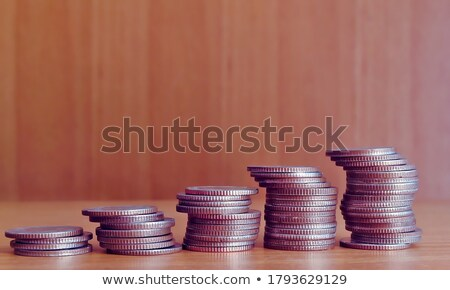 stacked coins rows stock photo © kentoh