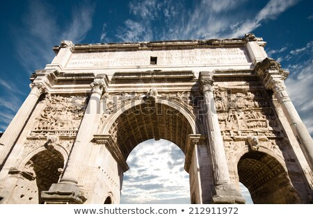 Stock photo: Details Arch of Constantine Roman Soldiers Rome Italy