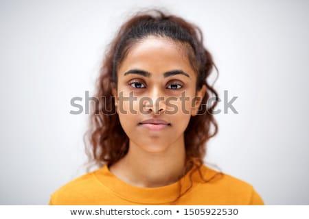 asian · jonge · vrouw · gezicht · gelukkig · glimlach - stockfoto © szefei