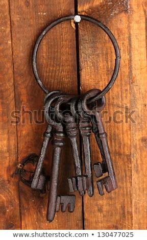 Eski demir anahtar kapı Retro siluet Stok fotoğraf © inaquim