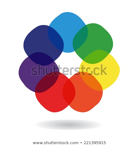 vector logo spectral colorful abstraction Stock photo © butenkow