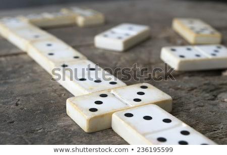 Stockfoto: Rij · oude · business · hout · speelgoed · witte