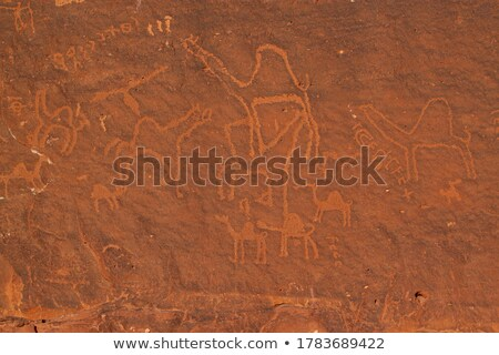 frontal view of a sandstone wall Stock photo © Zerbor