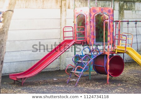 Colorful playground for childrens in the sunset.  Focus on the X and 0 game. Stock photo © dacasdo