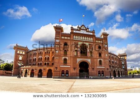 Stock fotó: Madrid · Spanyolország · építészet · részletek · aréna · ablak