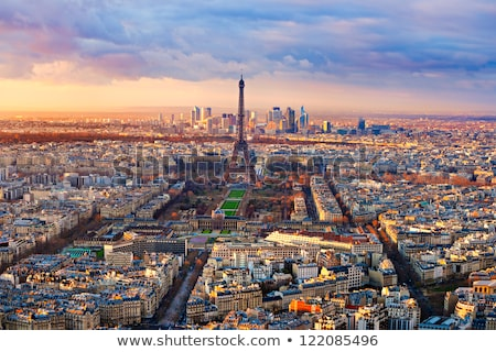 Panoráma Párizs torony kilátás éjszaka Eiffel-torony Stock fotó © macsim