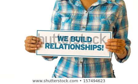 Budować kobieta działalności komunikacji informacji Zdjęcia stock © kbuntu