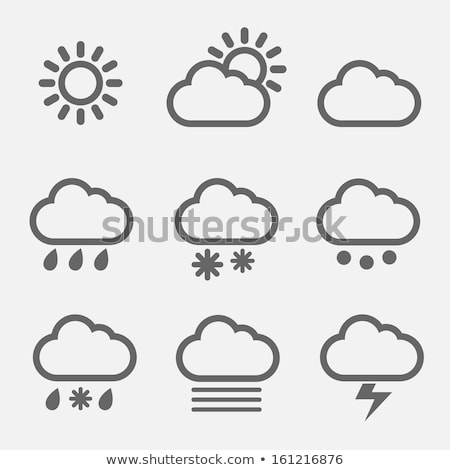 Vector icon cloud and thunder Stock photo © zzve