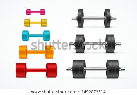 poids · rack · gymnase · poids · haltères · sport - photo stock © ruslanomega
