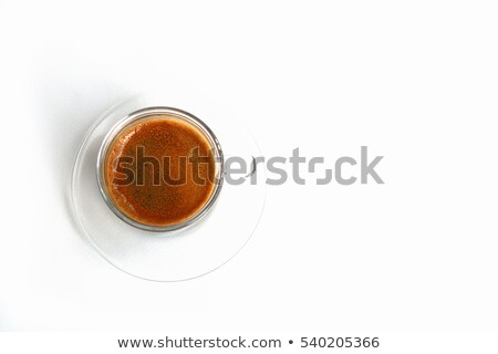 Cappuccino faible verre grains de café lait mousse Photo stock © Rob_Stark