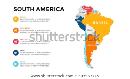 South america map with Brazil Stock photo © Ustofre9