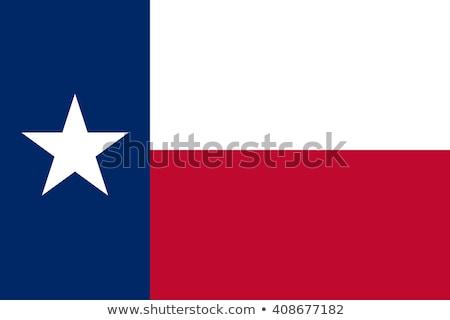 bayrak · Teksas · örnek · katlanmış · star · kırmızı - stok fotoğraf © ustofre9