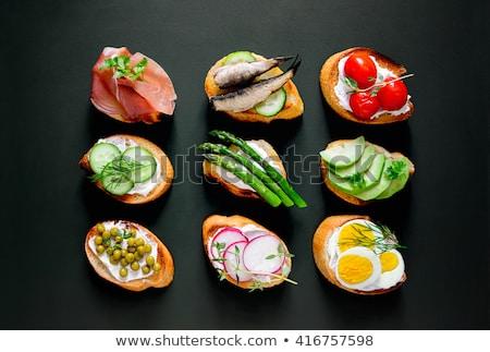 assortment of canape,toast Stock photo © M-studio