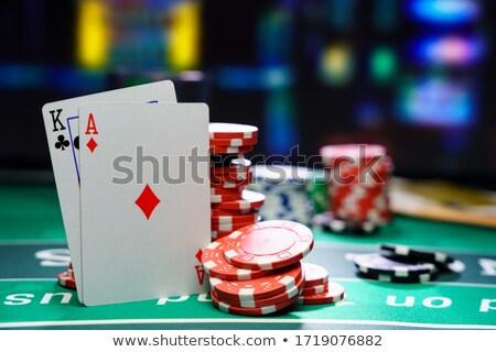 Gioco blackjack nero scarpa carte giocare Foto d'archivio © kentoh