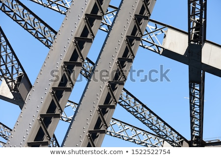 Detail of nuts and bolts of Sydney Harbour Bridge Stock photo © backyardproductions